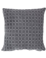 VCNY Home Piper Woven Geometric Decorative Pillow, 18 x 18, Grey
