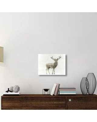 """East Urban Home 'Stag' Graphic Art Print on Canvas UBAH6285 Size: 18"""" H x 24"""" D x 1.5"""" D"""