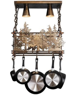 Meyda Tiffany Forest Handcrafted Hanging Pot Rack 67397