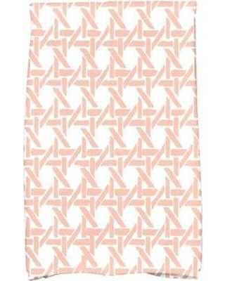 Shopping Special For Ivy Bronx Rattan Geometric Print Tea Towel Jwcy8567 Color Coral