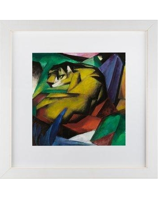 """Trademark Fine Art 'The Tiger' Print on Canvas AA00330- Size: 16"""" H x 16"""" W x 0.5"""" D Matte Color: White Format: White Framed"""