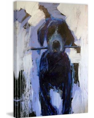 """Marmont Hill 'Fetch It' Framed Painting Print on Wrapped Canvas MH-MWW-MICRIV-53-C Size: 24"""" H x 16"""" W x 1.5"""" D"""