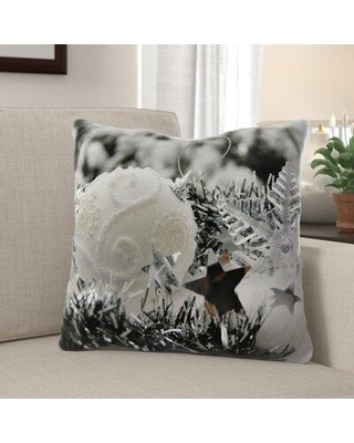 Deals On The Holiday Aisle Purington Winter Indoor Outdoor Canvas Throw Pillow Polyester Polyfill In Gray Silver Size 18x18 Wayfair