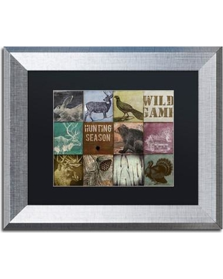 """Trademark Fine Art 'Cabela Hunting Season 12' by Color Bakery Framed Graphic Art ALI4228-S1 Size: 11"""" H x 14"""" W x 0.5"""" D Mat Color: Black"""