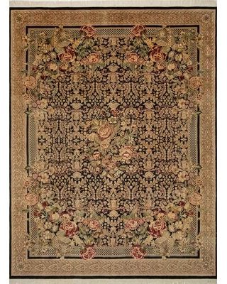 """One-of-a-Kind Massimo Hand-Knotted 2010s Light Brown 9'1"""" x 11'10"""" Wool Area Rug"""