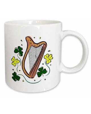 East Urban Home Irish Lap Harp Clovers St Patrick Coffee Mug X111368850