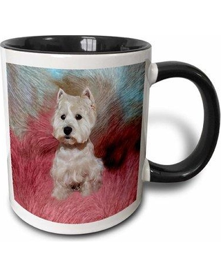"East Urban Home Westie Coffee Mug W000290037 Size: 3.75"" H x 4"" W x 3"" D Color: Black"
