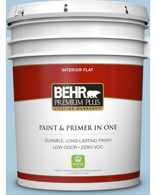 BEHR Premium Plus 5 gal. #M500-2 Early September Flat Low Odor Interior Paint and Primer in One