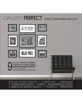 Great Deals on 9-Opening 5 in. x 7 in. Matted Picture Frame, Black