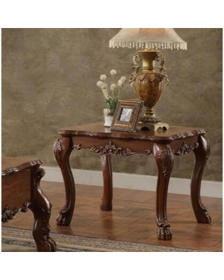 BM186281 Traditional Wooden End Table with Claw Feet Cherry Oak