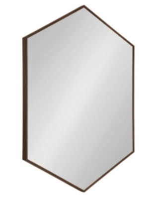 """Kate and Laurel Rhodes Framed Hexagon Wall Mirror - 24.75"""" x 36.75"""""""