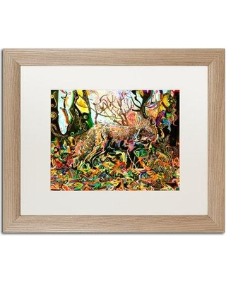 "Trademark Fine Art 'Mozilla Fox' Framed Painting Print ALI5578-T1 Matte Color: White Size: 16"" H x 20"" W x 0.5"" D"
