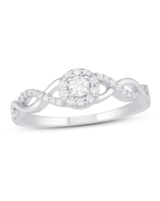 Diamond Promise Ring 1/4 ct tw Round-cut Sterling Silver