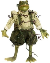 Tori Home Princess Garden Whimsical Green Mr. Frog Decorative Figure with Vine Accents XSE300-GR