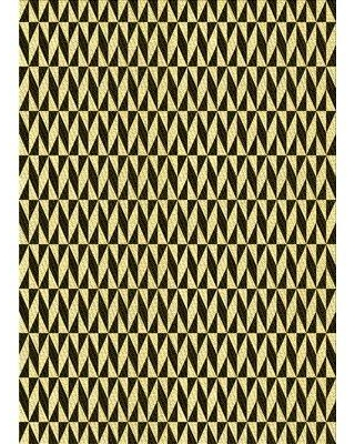 East Urban Home Pillager Geometric Wool Yellow Area Rug X113679997 Rug Size: Rectangle 2' x 3'