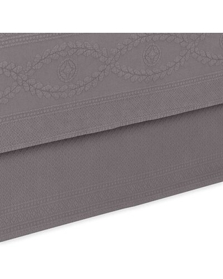 """Williamsburg Abby 15"""" Bed Skirt Royal Heritage Home Color: Gray, Size: Twin"""
