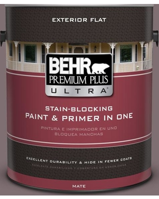New Deal For Behr Ultra 1 Gal N110 5 Royal Raisin Flat Exterior Paint And Primer In One