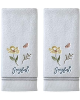 2-Pack SKL HOME by Saturday Knight Ltd Love A Hc Hero Hand Towel White