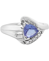 LIMITED QUANTITIES! Le Vian Grand Sample Sale Ring featuring Blueberry Tanzanite set in 14K Vanilla Gold, 7