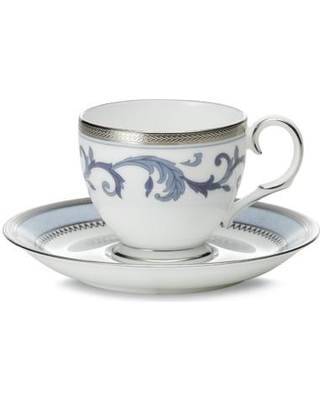 Noritake Sonnet Blue 3 oz. Bone China Cup and Saucer 4893-431