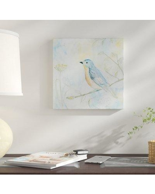 """East Urban Home 'Sketched Songbird II' Graphic Art Print on Wrapped Canvas ERNI2592 Size: 26"""" H x 26"""" W x 1.5"""" D"""