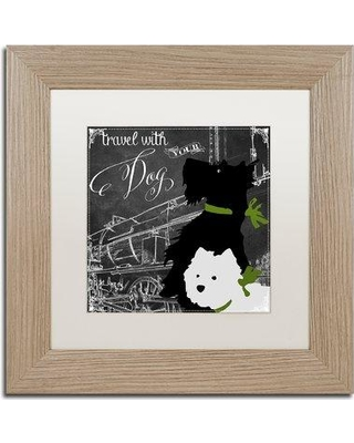 """Trademark Art 'Travel with Your Dog' by Color Bakery Framed Graphic Art ALI5026-T1111MF / ALI5026-T1616MF Size: 11"""" H x 11"""" W x 0.5"""" D"""