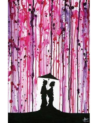 """East Urban Home 'Wild Blossoms' Vertical Painting Print on Wrapped Canvas ESTN6995 Size: 26"""" H x 18"""" W x 0.75"""" D"""