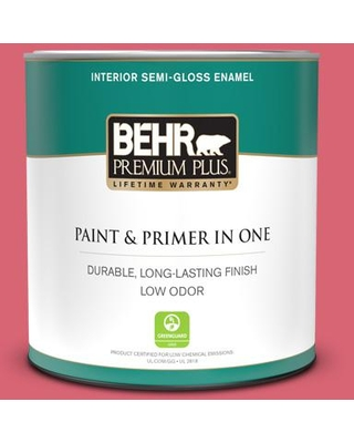 Huge Deal On Behr Premium Plus 1 Qt P150 5 Kiss And Tell Semi Gloss Enamel Low Odor Interior Paint And Primer In One