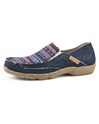 Roper womens Casual Shoe Moccasin, Blue, 6 US