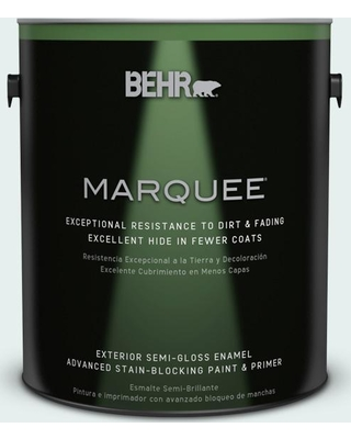 BEHR MARQUEE 1 gal. #730E-1 Polar White Semi-Gloss Enamel Exterior Paint and Primer in One