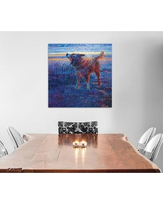 "East Urban Home Iris Scott - Coastal Canine Painting Print on Wrapped Canvas ESRB2307 Size: 12"" H x 12"" W x 0.75"" D"