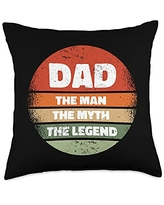 Best Dad Ever Father's Day Gift Ideas Men Daddy DAD2: Father's Day: Dad - the Man, the Myth, the Legend Throw Pillow, 18x18, Multicolor