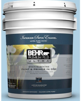BEHR Premium Plus Ultra 5 gal. #560C-3 Holiday Road Satin Enamel Interior Paint and Primer in One