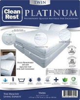 CleanRest Platinum Polyester Mattress Pad 845168007955 Bed Size: Twin
