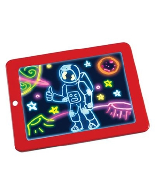 Magic Pad Light Up Drawing Pad in Red