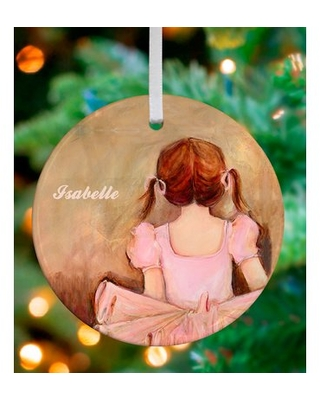 Sweet Ballerina Brunette Personalized Ornament by Kristina Bass Bailey Oopsy Daisy