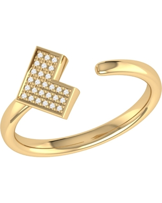 LMJ - One Way Open Ring In 14 Kt Yellow Gold Vermeil On Sterling Silver