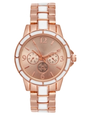 Charter Club Women's Two-Tone Bracelet Watch 34mm, Created for Macy's