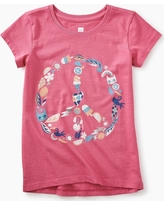 Tea Collection Peace Sign Graphic Tee
