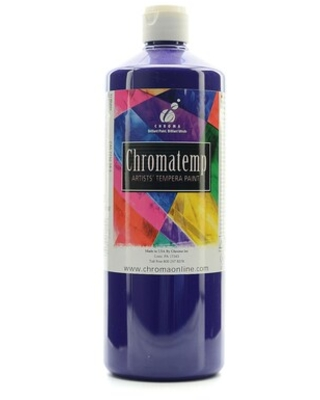 Chroma Inc. Chromatemp Artists Tempera Paint Violet 32 Oz. [Pack Of 2] (2Pack 2609) | Quill