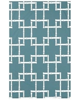 "Bay Isle Home Connelly Bamboo 1 Geometric Fleece Throw BAYI3260 Size: 60"" L x 50"" W x 0.5"" D Color: Teal"