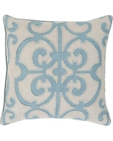 "Darby Home Co Damascus 100% Linen Throw Pillow Cover DRBC7017 Color: Pink, Size: 20"" H x 20"" W x 1"" D"