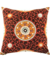 The Well Dressed Bed Tribal Threads Suzani Accent Cotton Throw Pillow TP-Suzani