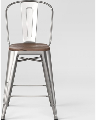 Enjoyable Threshold 24 Carlisle Counter Stool With Wood Seat Natural Metal Set Of 2 Threshold Size 2 Pack Silver From Target Bhg Com Shop Unemploymentrelief Wooden Chair Designs For Living Room Unemploymentrelieforg