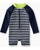 Tea Collection Striped Rash Guard One-Piece