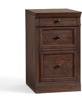 Livingston Single 2 Drawer Lateral File Cabinet With Top, Brown Wash