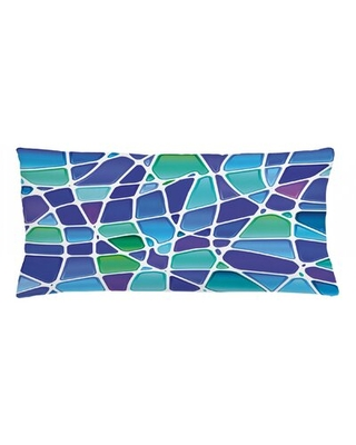 """Fractal Indoor / Outdoor Abstract Lumbar Pillow Cover East Urban Home Size: 16"""" x 36"""""""