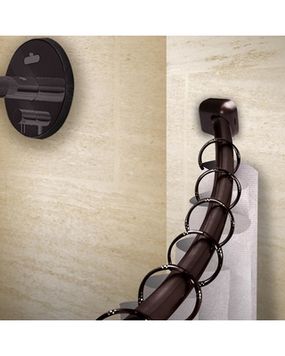 Rod Desyne 41 72 In Curved Shower Curtain With Rust Prevention Bronze