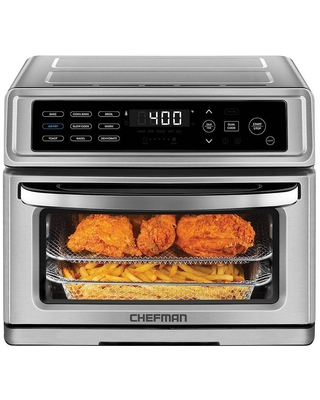 Chefman Toast-Air Air Fryer + Oven - 20 Liters - Stainless Steel