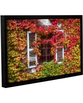 "Loon Peak Vines Window Framed Photographic Print on Wrapped Canvas LNPK1531 Size: 32"" H x 48"" W x 2"" D"